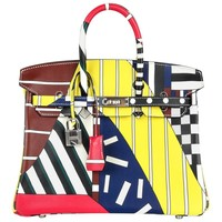 Hermes Birkin 25 Bag One Two Three and Away We Go Limited Edition Nigel Peake