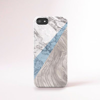 Marble iPhone 6 Case Marble Print iPhone 5 Case Marble Samsung S5 Case Wood Print iPhone 4 Case Gorgeous iPhone Cases Navy and Wood Print