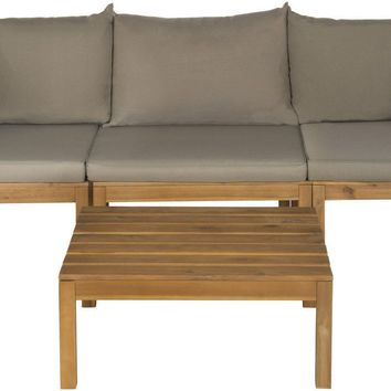 Lynwood Modular Outdoor Sectional Teak Brown/Taupe