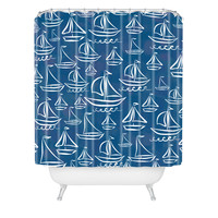 Lisa Argyropoulos Sail Away Blue Shower Curtain