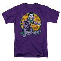 DC Comics Men's  The Joker T-shirt Purple Rockabilia