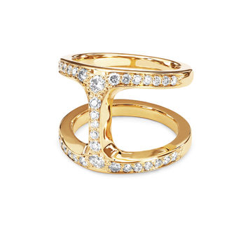 Hoorsenbuhs - 18K Yellow Gold Dame Phantom Diamond Ring