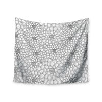 """Julia Grifol """"White Flowers"""" Wall Tapestry"""
