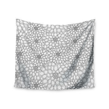 "Julia Grifol ""White Flowers"" Wall Tapestry"