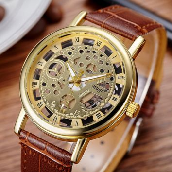 Brown Leather Watch Gift