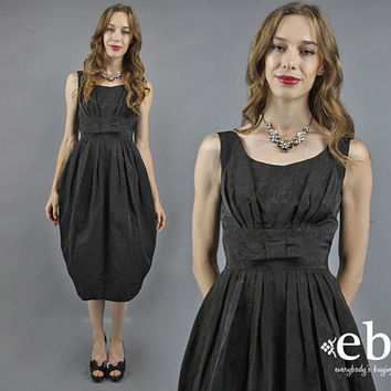 50s Cocktail Dress 50s Party Dress 50s Dress Black Dress Vintage 1950s Dress Black Prom Dress Mad Men Dress Cocktail Party Dress