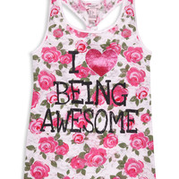 Love Being Awesome Tank | FOREVER21 girls - 2000041974
