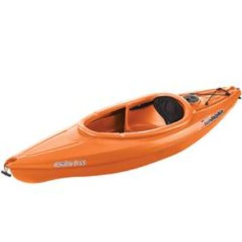Aruba 8' 1 Person Sit-In Kayak in Tangerine Orange with On-Board Storage - Sears