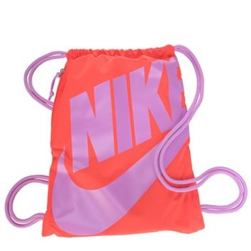 Nike Heritage Drawstring Backpack Crimson Fuscia