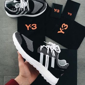 Adidas Y3 PureBoost ZG Knit 2019 early spring new men's casual sports shoes