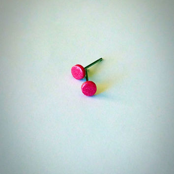 4mm Tiny Pink Studs Small Post Studs