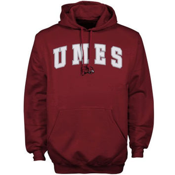 Maryland Eastern Shore Hawks Maroon Player Pro Arch Hoodie Sweatshirt