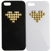 2 Pack Heart Studded iPhone 5 Case - WetSeal