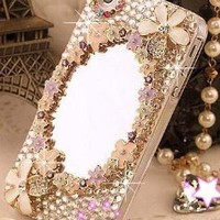 3D Magic Mirror Crystal diamond Case Cover For iPhone 4