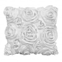 Wake Up Frankie - The Bouquet Dec Pillow - White : Teen Bedding, Pink Bedding, Dorm Bedding, Teen Comforters