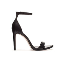 LEATHER SANDAL - Heeled sandals - Shoes - Woman - ZARA United States