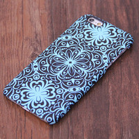 Turquoise Floral Design iPhone 6 Case/Plus/5S/5C/5/4S Protective Case #719
