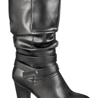 Black Vienna Heeled Boot - Black