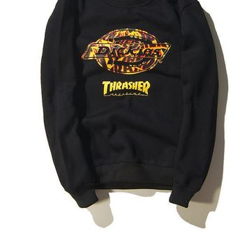 THRASHER Winter Unisex Hip-hop Fashion Sweatshirt [103837040652]