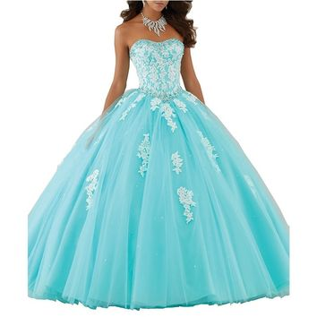 Sweetheart Quinceanera Puffy Ball Gown