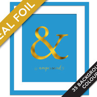 Ampersand Art Print - Gold Foil Print - Typography Art Print - Ampersand Decor - Ampersand Poster - Ampersand Wall Art - Punctuation Print