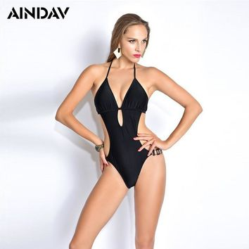 Ratio Sexy High Cut Swimsuit Backless Swimwear Women One Piece Bathing Suit Cut Out Sides Body Suit Trikini Monokini Badpak