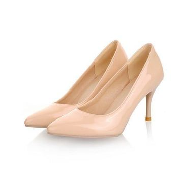 New Fashion high heels women pumps thin heel classic white red nede beige sexy prom wedding shoes