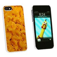 Graphics and More Mac N Cheese Macaroni and Snap-On Hard Protective Case for iPhone 5/5s - Non-Retail Packaging - White