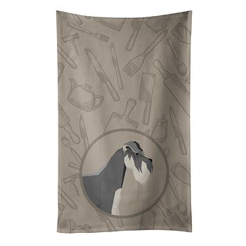 Schnauzer In the Kitchen Kitchen Towel CK2206KTWL