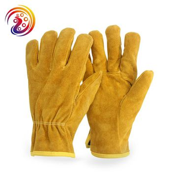 OLSON DEEPAK Cow Split Leather Factory Driving Gardening Welding Work Gloves HY011 Free Shipping
