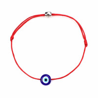 1pcs/lot Simple Stylish Red String & Blue Evil Eye Bracelet Good Luck Bracelet For Women