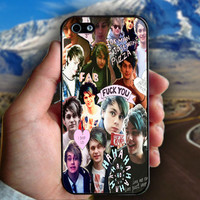 Michael Clifford Collage - Print on hard plastic case for iPhone case. Select an option