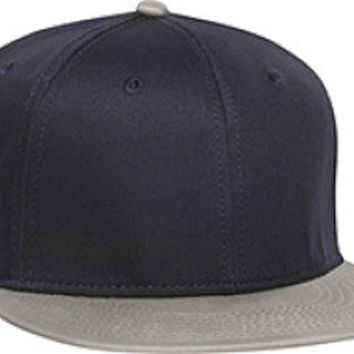 Otto Cap 125-978 - Wool Blend Snapback (Gry/Nvy/Nvy)