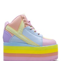 Y.R.U. Youth Rise UP Qozmo Hi Pastel Platform Shoes Sneaker