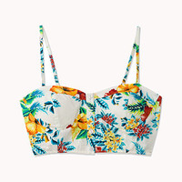Electric Tropical Print Bustier