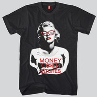 Marilyn Monroe Money Over Bitches T-shirt
