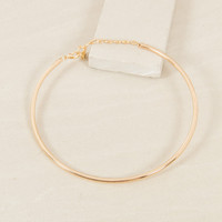 GLAM GALA METAL NARROW FITTED COLLAR CHOCKER NECKLACE - GOLD