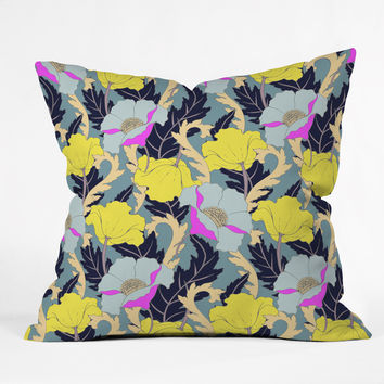 Aimee St Hill June Yellow Throw Pillow
