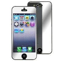 Insten Mirror Screen Protector Compatible with Apple iPhone 5 - Retail Packaging - Transparent