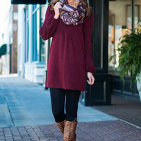 Eyes On The Prize Dress, Burgundy