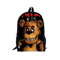 Five Nights at Freddy's School book laptop backpack 16 inche opening Youth Teen College Adult boys girls unisex Fashion