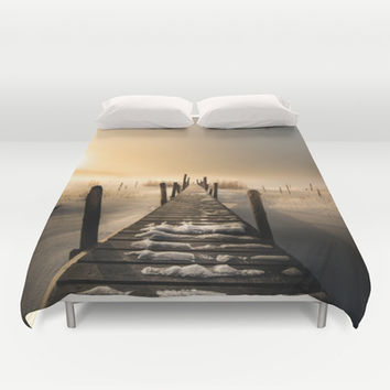 I rest here... Duvet Cover by HappyMelvin