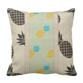Pineapple Designer Outdoor Pillow