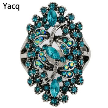 Yacq Dragonfly Stretch Ring Scarf Clasp Buckle Women Girls Summer Fashion Jewelry Charm Crystal Gold Silver Golor Dropshipping