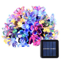 New lederTEK Solar Fairy String Lights 21ft 50 LED Multi-color Blossom Decorative 50 LED Multi-color In stock and fast delivery