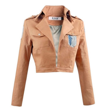 Attack On Titan Jacket Shingeki No Kyojin Survey Corps Jacket Unisex Coat Cosplay Jacket = 1931912196