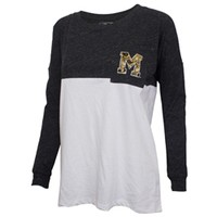 Mizzou Juniors' Official Paisley Grey & White Crew Neck Shirt