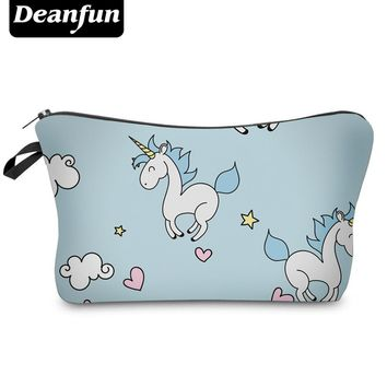 Deanfun Fashion Brand Unicorn Cosmetic Bag 2017 New Fashion 3D Printed Women Travel Makeup Case H89