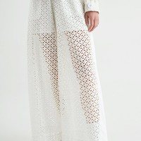 Laced Trousers | White