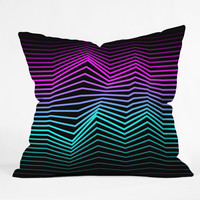 Three Of The Possessed Miami Nights Outdoor Throw Pillow